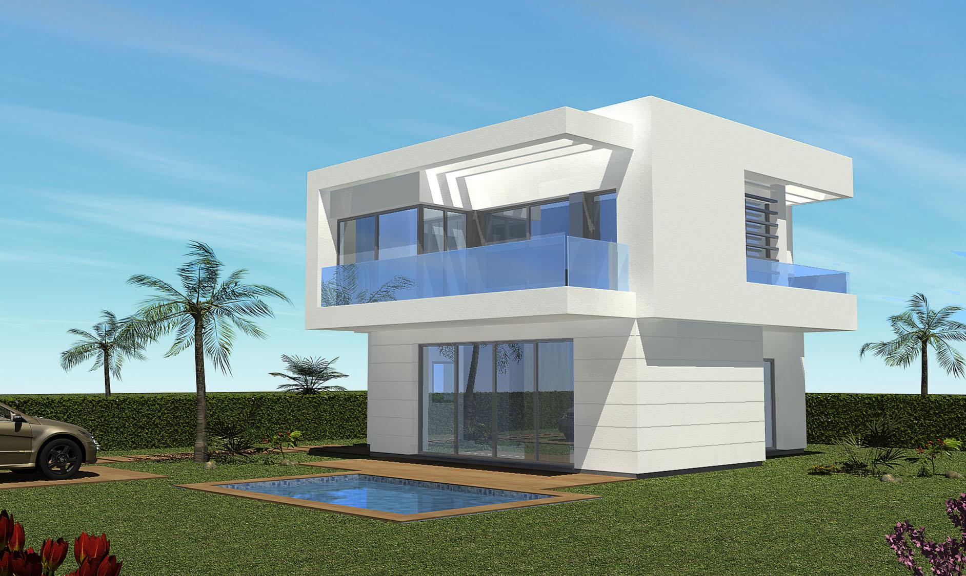 Villas 4 fa ades dans un golf s curis immo espagne - Superbe residence privee house in rubi en espagne ...